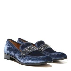 "Franco Sarto ""Johanna"" Velvet Studded Loafers"